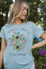 Mint - Blessings Graphic Tee from Dress Up