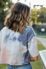 Tie-Dye Cropped Tee Back View