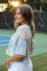Tie-Dye Cropped Tee Side View