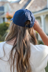 USA Baseball Hat in Navy Back View
