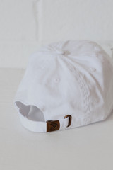 USA Baseball Hat in White Back View