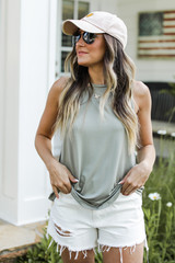 Olive - Dress Up model wearing an Everyday Jersey Tank
