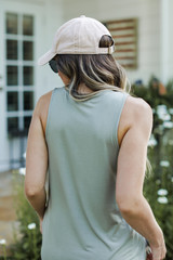 Everyday Jersey Tank in Olive Back View