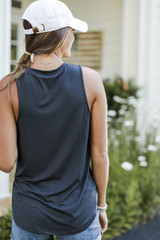 Everyday Jersey Tank in Black Back View