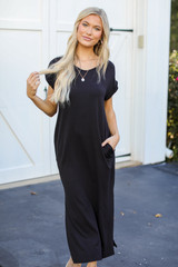 Jersey Maxi Dress Front View