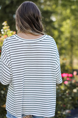 Striped Tee Back View