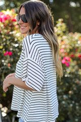 Striped Tee Side View