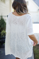 Oversized Knit Tee Back View