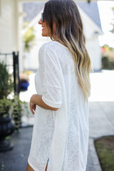 Oversized Knit Tee Side View