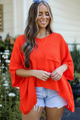 Red - Oversized Blouse from Dress Up