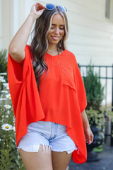 Oversized Blouse Front View