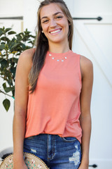 Orange - Everyday Jersey Tank Front View