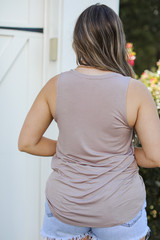 Everyday Jersey Tank in Blush Back View