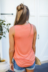 Everyday Jersey Tank in Orange Back View