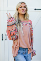 Peach - Oversized Top from Dress Up