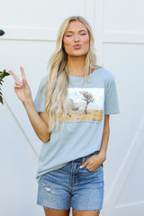 Model wearing the Your Only Limit Is Your Mind Graphic Tee