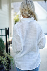 Button-Up Top in White Back View