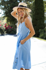 Button Front Midi Dress Side View