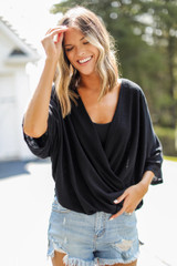 Black - Surplice Top from Dress Up