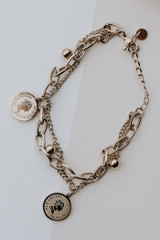 Gold - Coin Layered Bracelet from Dress Up