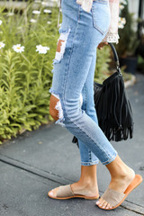 Distressed Mom Jeans Side View