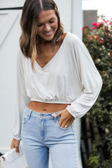 White - Crop Top from Dress Up