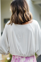 Crop Top in White Back View