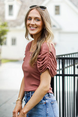 Camel - Ribbed Top from Dress Up