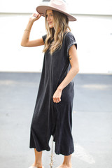 T-Shirt Maxi Dress in Black Side View
