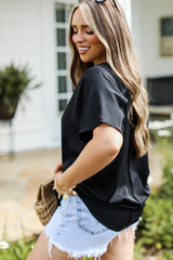 Black - Oversized Blouse from Dress Up
