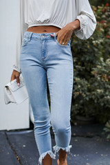 High-Rise Skinny Jeans Front View