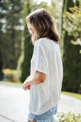 Oversized Knit Top Side View