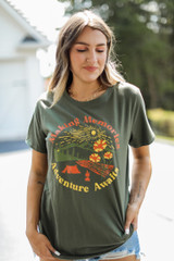 Olive - Making Memories Graphic Tee from Dress Up