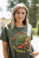 Dress Up model wearing the Making Memories Graphic Tee