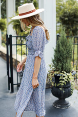 Floral Midi Dress Side View on model