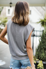 Corded Muscle Tank Back View
