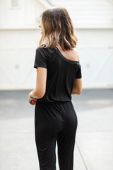 Ribbed Jumpsuit Back View