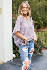 Lavender - Striped Knit Top from Dress Up