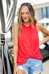 Red - Knit Tank from Dress Up