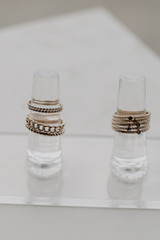 Gold Ring Set on a white background