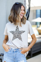 Ivory - Star Graphic Tee from Dress Up