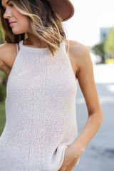 Natural - Knit Tank from Dress Up
