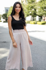 Taupe - Culotte Pants