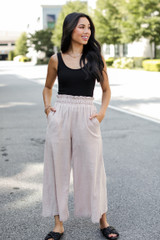 Taupe - Culotte Pants from Dress Up