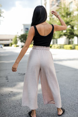 Culotte Pants in Taupe Back View