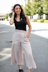 Culotte Pants in Taupe Front View