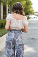 Crop Top in Taupe Back View