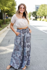 Grey - Wide Leg Pants from Dress Up