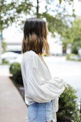 Tie-Front Blouse Side View
