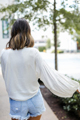 Tie-Front Blouse Back View